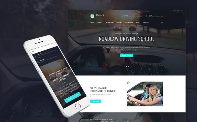 Driving School Responsive WP Theme