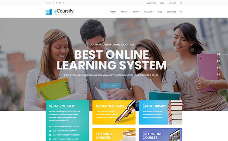 LMS for Online Courses WordPress Theme