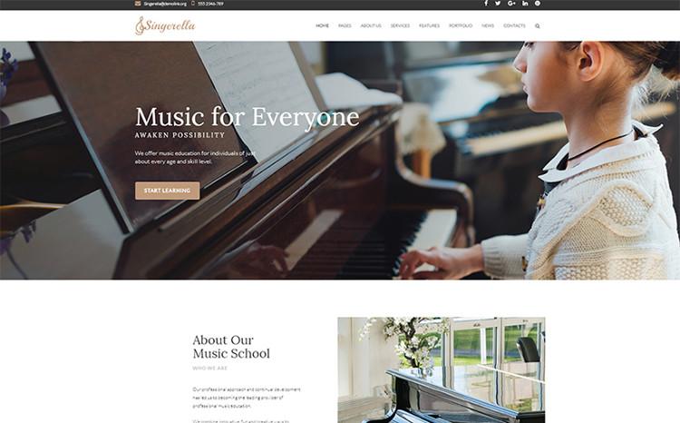 Music School Responsive WordPress Theme