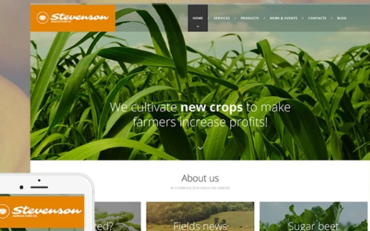 Farm Website Design for Crop Cultivation