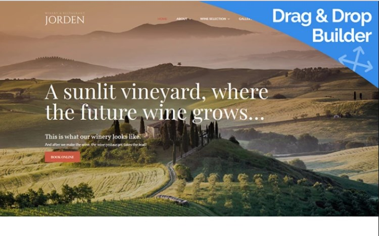 Jorden - Wine And Winery Website Template