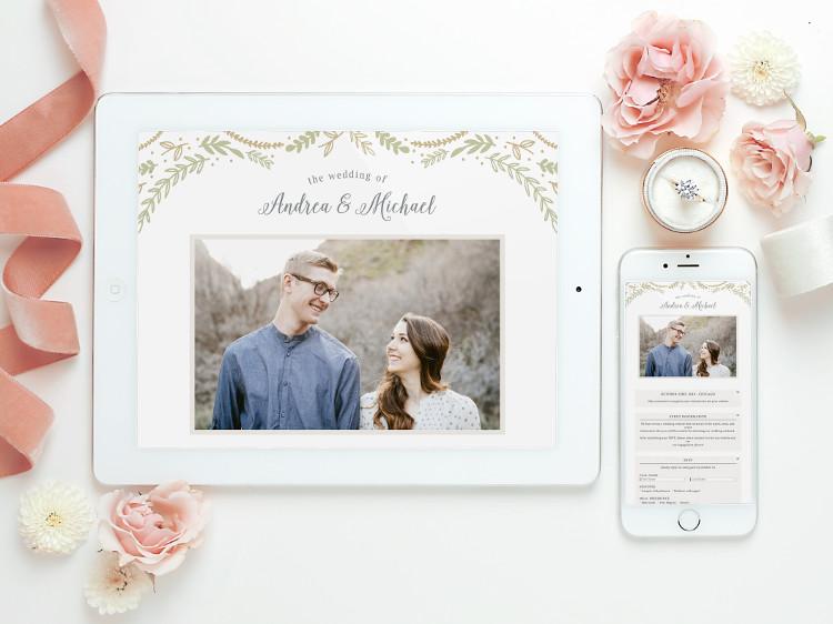 Mobile Responsive Wedding Website Templates