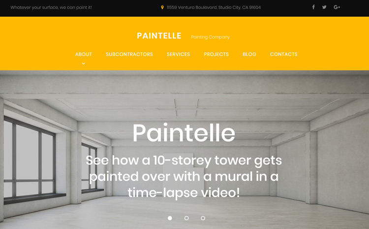 Paintelle Painting Contractor Website Template