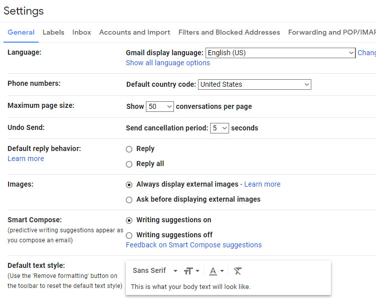Click on Accounts and Import tab in Gmail