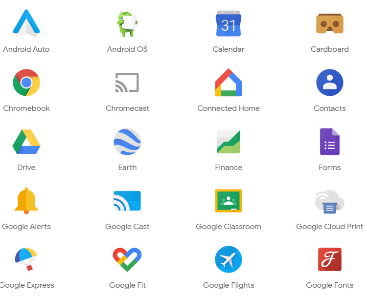 Many Google Apps and Services