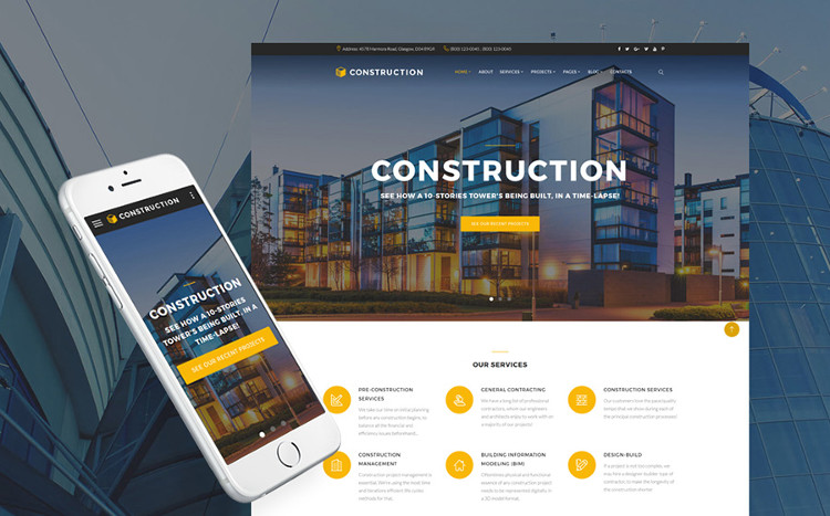 Construction Company HTML5 Website Template