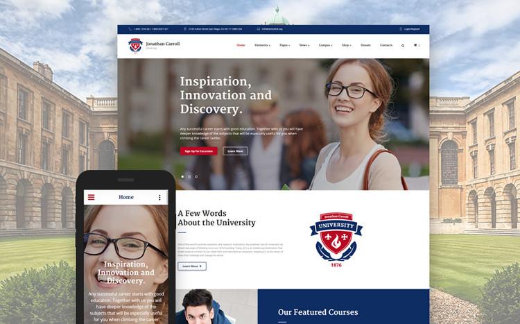 University Responsive HTML5 Website Template