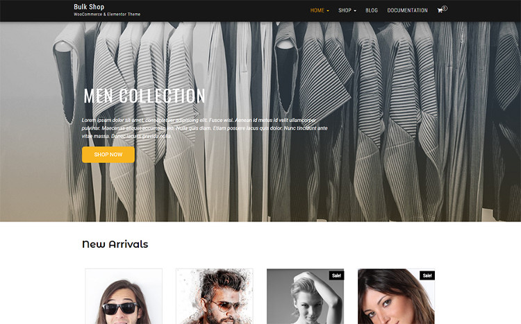 Bulk Shop WooCommerce & Elementor WordPress Theme