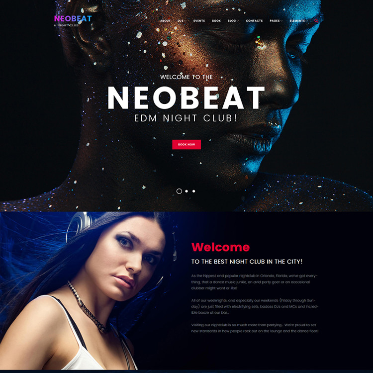 EDM Night Club WordPress Theme