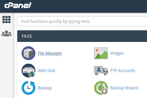 File Manager in cPanel