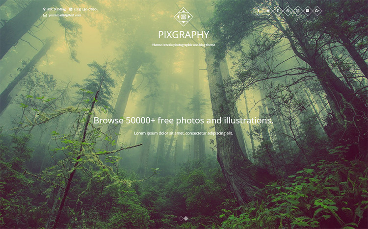 Pixgraphy Elementor WordPress Theme