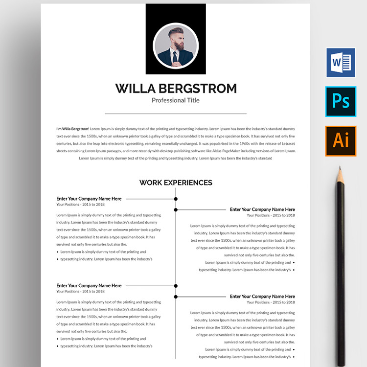 Willa Bergstrom Resume Template
