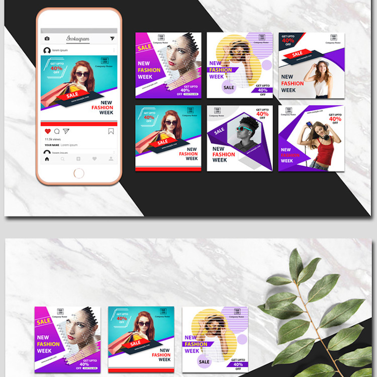 Instagram Colorful Banners