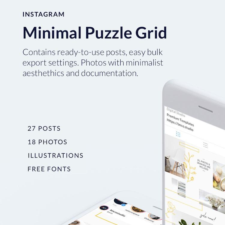 Minimal Instagram Puzzle Grid