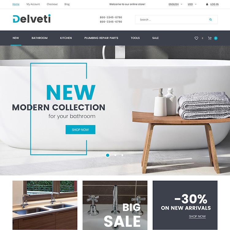 Delveti - Plumbing Supplies Magento Theme
