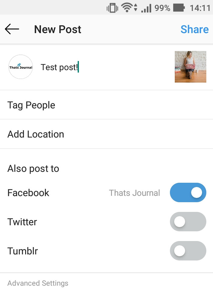 How to share Instagram posts in other social networks