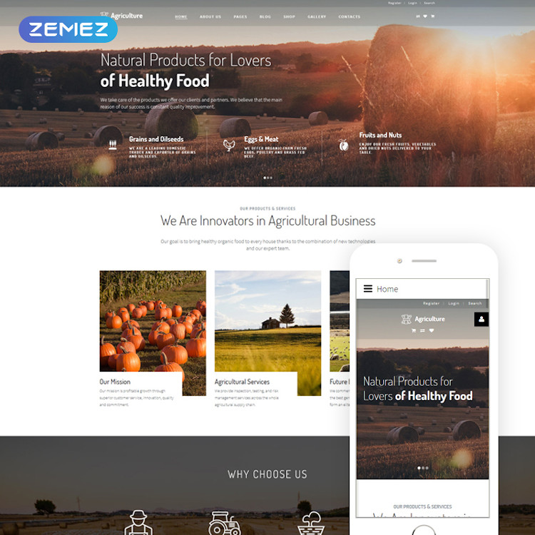 Agriculture - Natural Farming Clean Joomla Theme