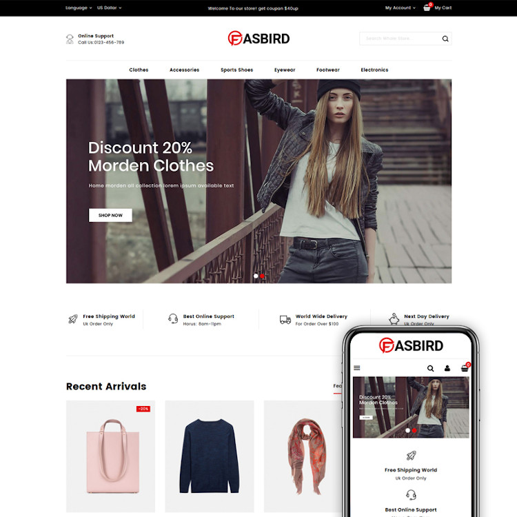 Fasbird - Fashion Designer Store PrestaShop Theme