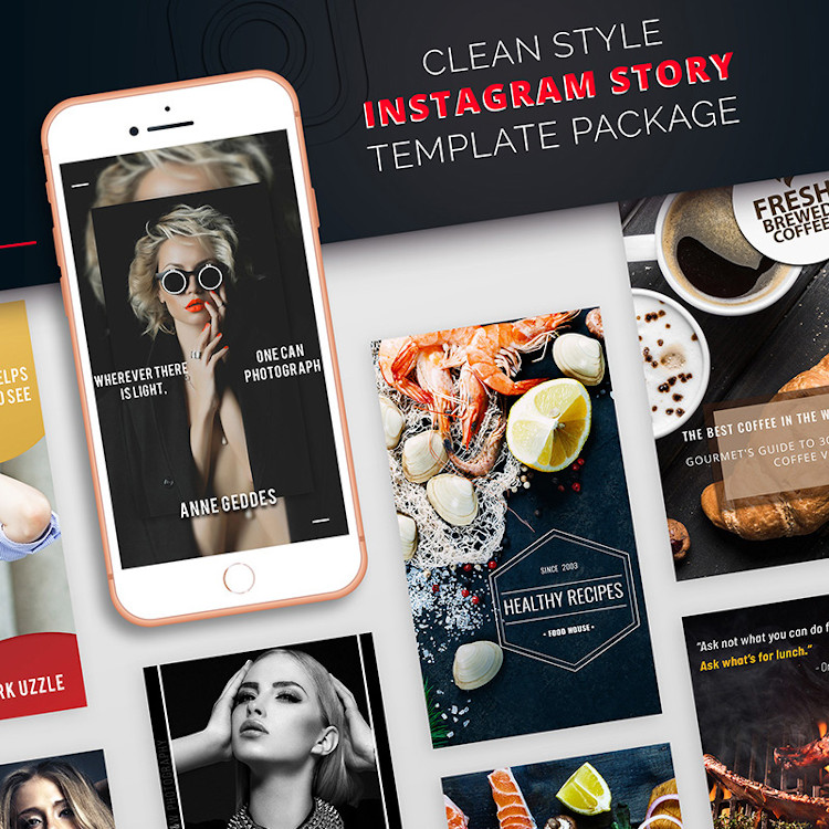 Instagram story templates package