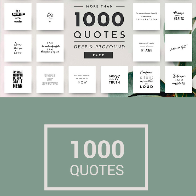 Pack of 1000 Inspirational Quotes Images