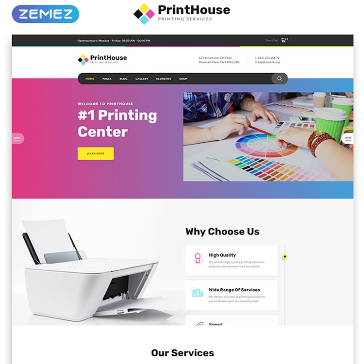 PrintHouse HTML5 website template