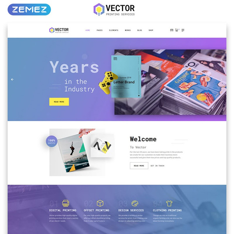 Vector HTML5 website template