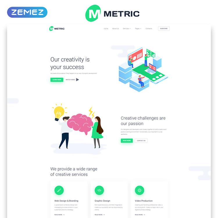Metric HTML5 template
