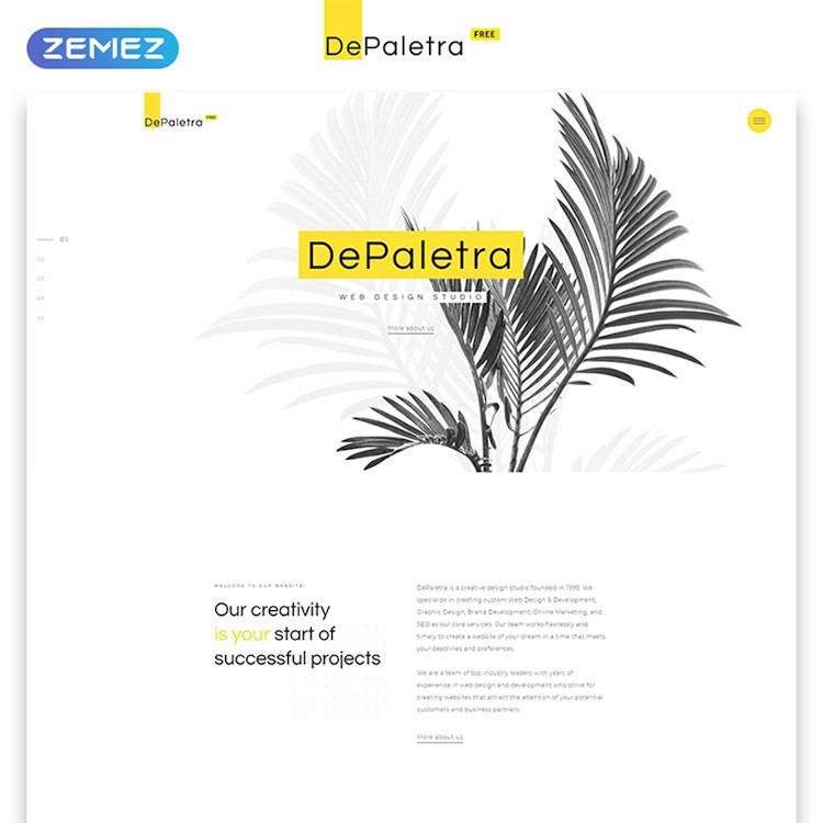 dePaletra (Free) HTML5 template