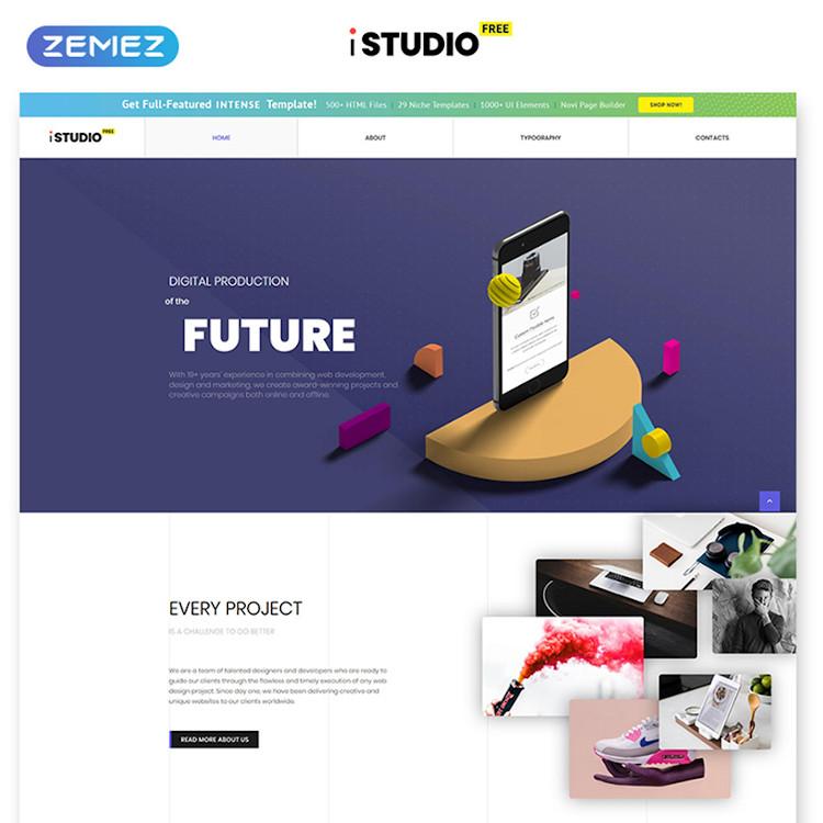 iStudio (Free) HTML5 template
