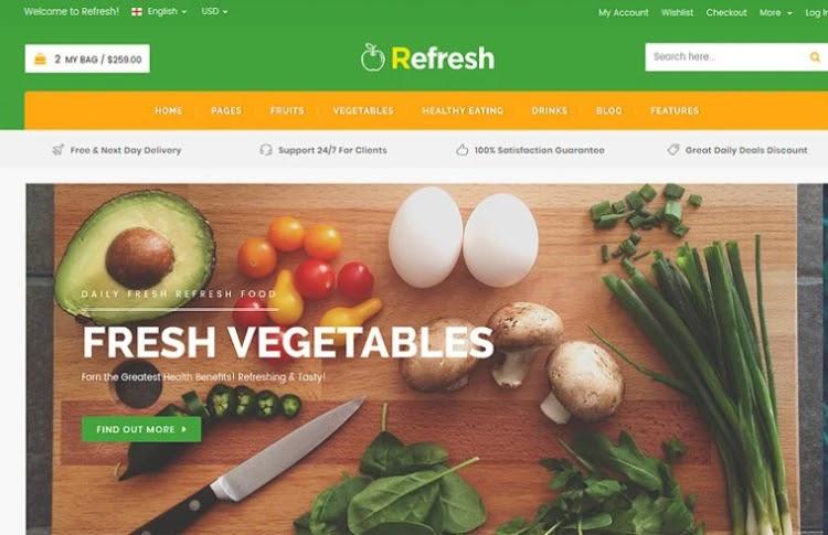 Refresh HTML5 Template