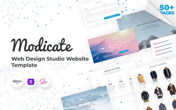 Modicate Web Design Studio HTML5 Website Template