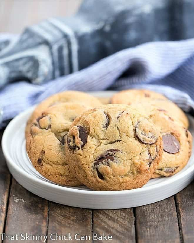 Jacques Torres' Secret Chocolate Chip Cookies on a white plate