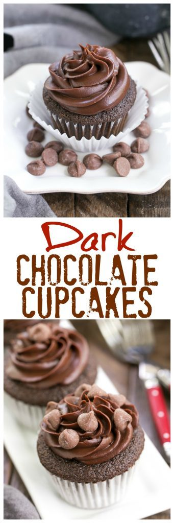 Ghirardelli Dark Chocolate Cupcakes Pinterest collage