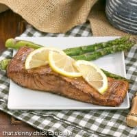 Grilled Asian Salmon | Marinated with soy, mustard and lemon, this could become your favorite salmon recipe, too!