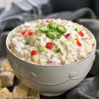 Sour Cream Corn Dip - A strange combo, but EVERYONE wants the recipe!
