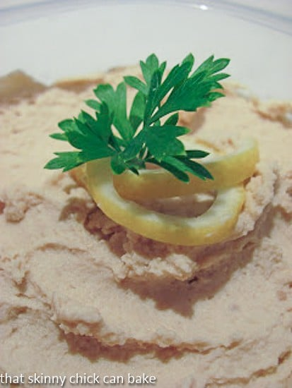 closeup view of hummus