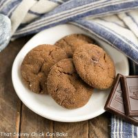 Chocolate Ginger Cookies | Crackled spiced cookies with chunks of semi-sweet chocolate