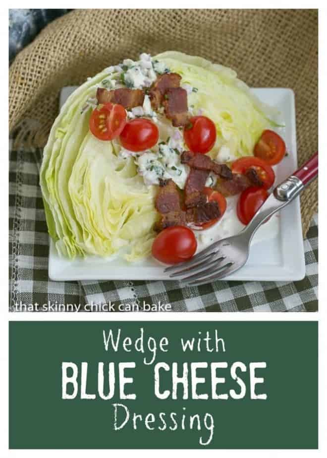 Iceberg Wedge with Blue Cheese Dressing photo and text collage