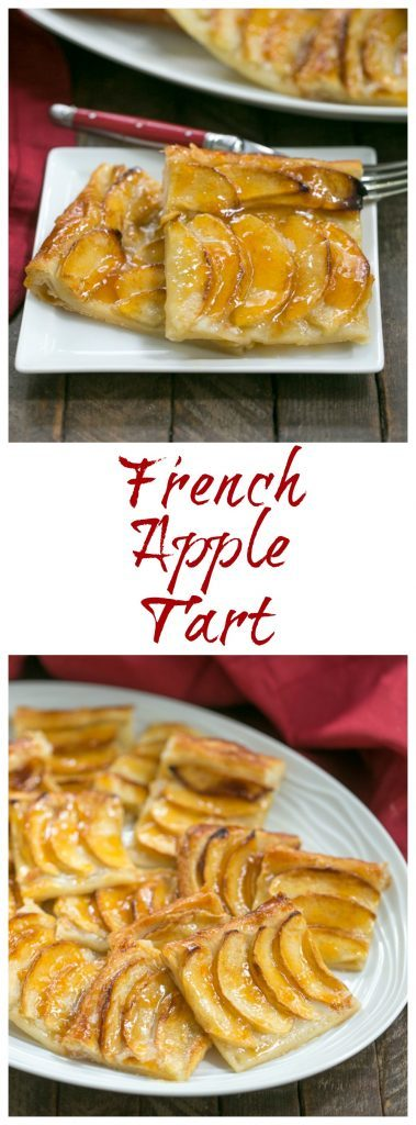 Easy, buttery French Apple Tart photo and text collage