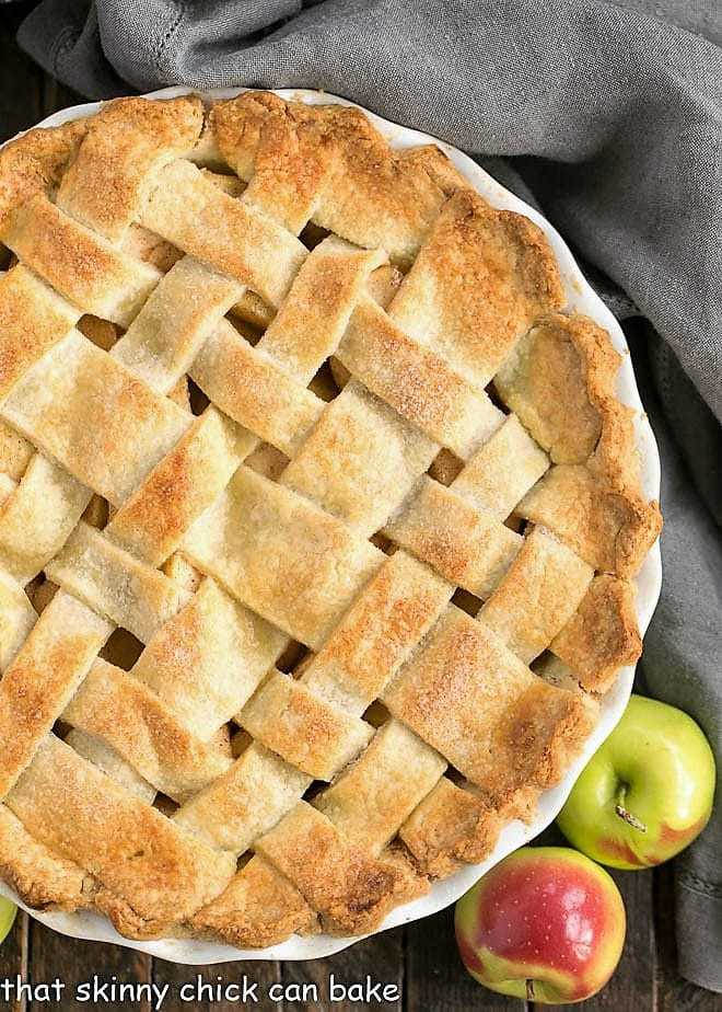 Overhead view of Perfect Apple Pie
