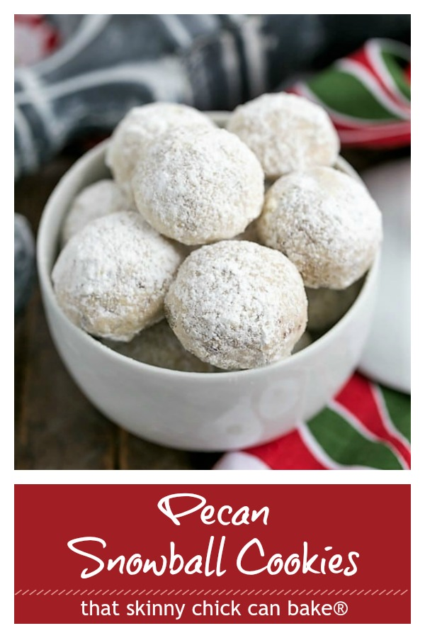 Pecan snowballs cookies text and photo collage