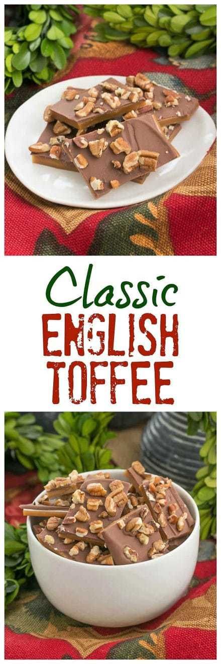 Classic English Toffee pinterest collage