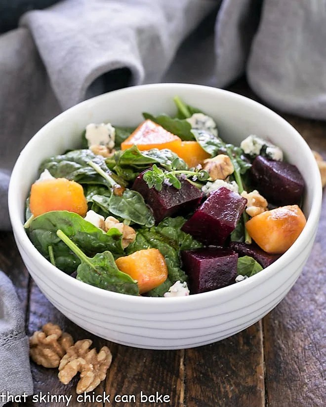 Peach and Beet Salad with Thyme Vinaigrette