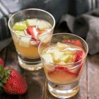 Two glasses of white wine sangria