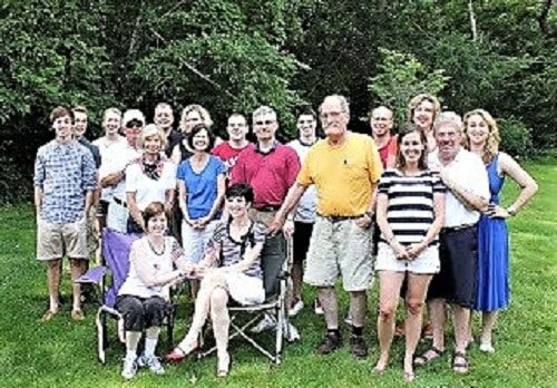 Attendees at a 4th of July gathering