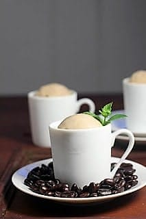 3 mugs filled with coffee ice cream