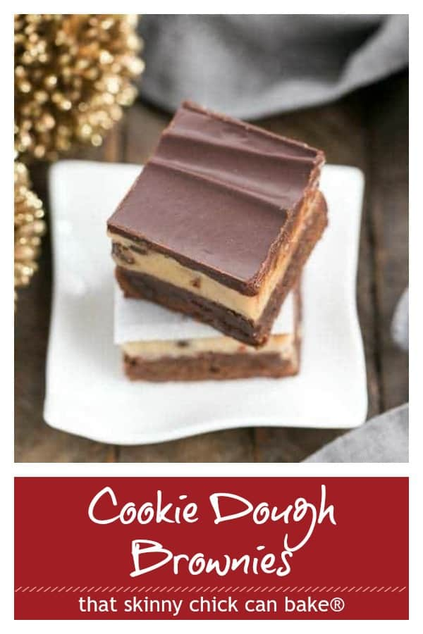 Chocolate Chip Cookie Dough Brownies photo and text collage