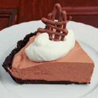 French Silk Pie with Frangelico