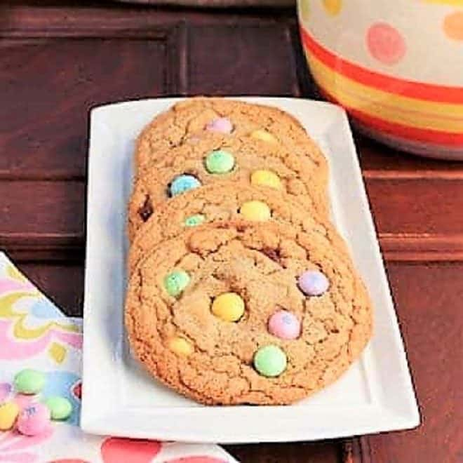 Brown Butter Easter Cookies on a white tray