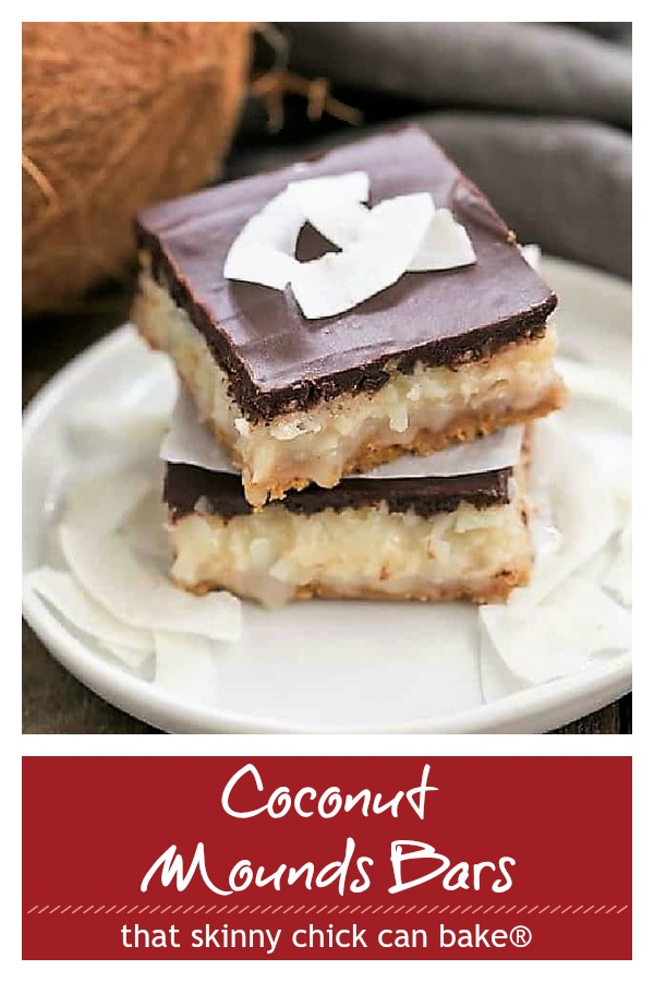 Coconut Mounds Bars photo and text collage